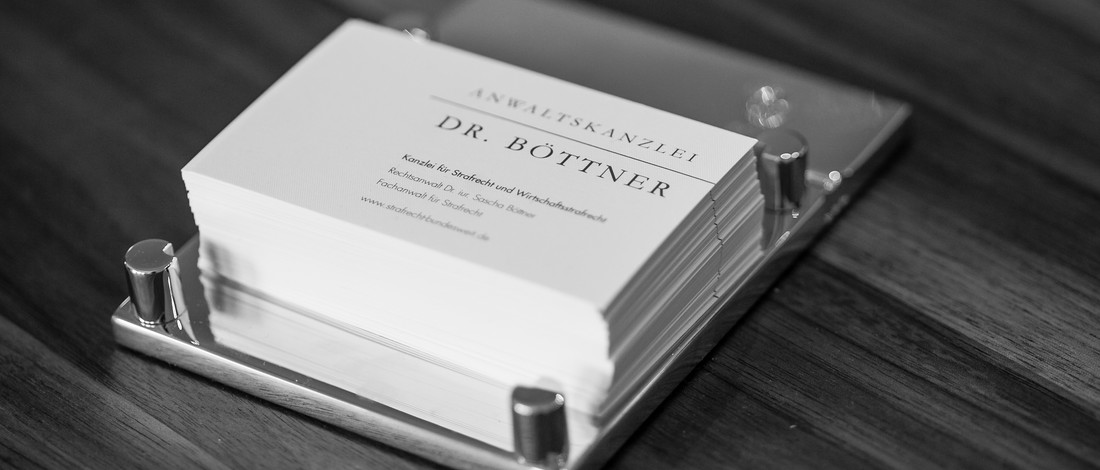 Visitenkarten Dr Boettner Anwalt Strafverteidiger Blog